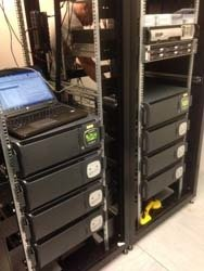 Rack mount UPS installation