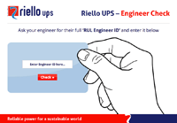 Riello UPS Cerified Engineers Portal