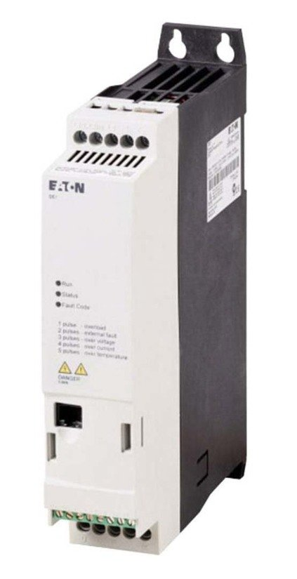 DE1 Variable Speed Starters 2.2kW 1P/3P Out 220-240Vac 9.8A